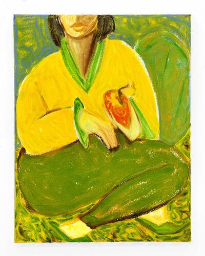 "Sam Spano, '""Woman Holding Apple""', 2018"