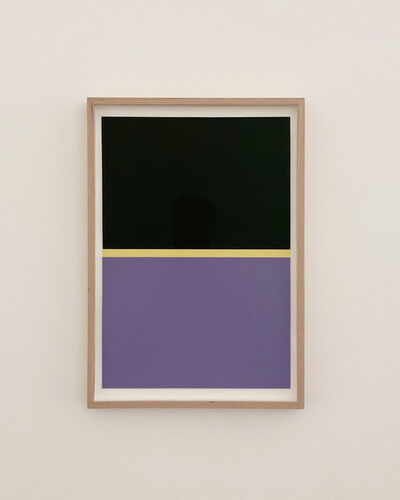 JES, 'BLACK, YELLOW, PURPLE', 2020