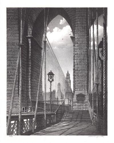 Stow Wengenroth, 'High Arches, Brooklyn Bridge', 1960