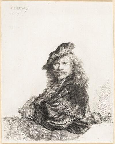 Rembrandt van Rijn, 'Self Portrait Leaning on a Stone Sill', 1625