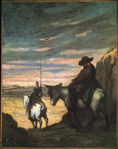 Honoré Daumier, 'Don Quixote et Sancho Panza (Don Quixote and Sancho Panza)', 1866-1868