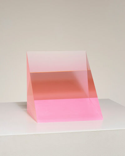 Peter Alexander, '5/14/19 Fusion Red Wedge (Pink)', 2019