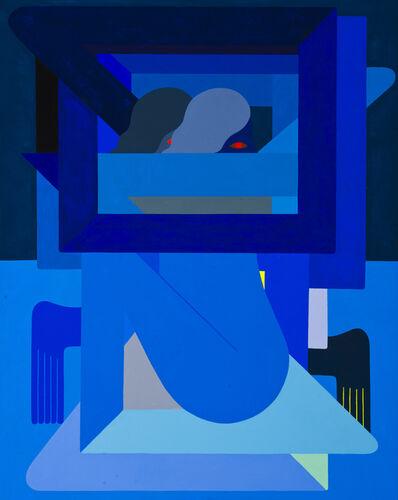 Richard Colman, 'Double Figure, (Blue)', 2018