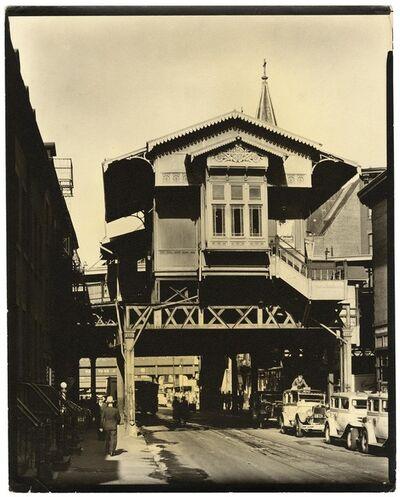 "Berenice Abbott, '""El"" Station, 9th Avenue Line, Christopher Street, Manhattan.', 1936"