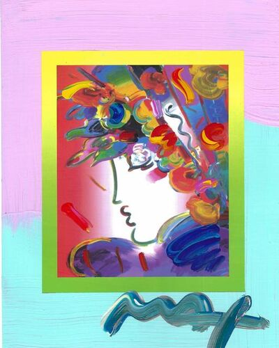 Peter Max, 'Blushing Beauty on Blends (Ref. # 2268)', 2007