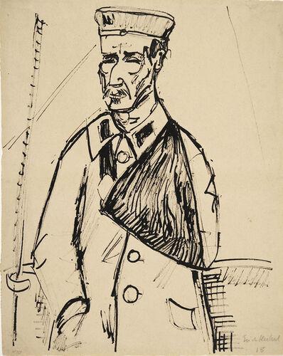 Erich Heckel, 'Verwundeter', 1915