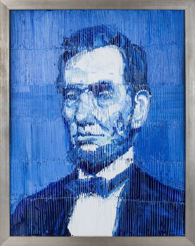 Hunt Slonem, 'Blue Abe', 2017
