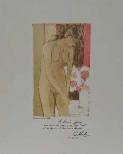 Bernard Cathelin, 'Nu au bouquet', 1974