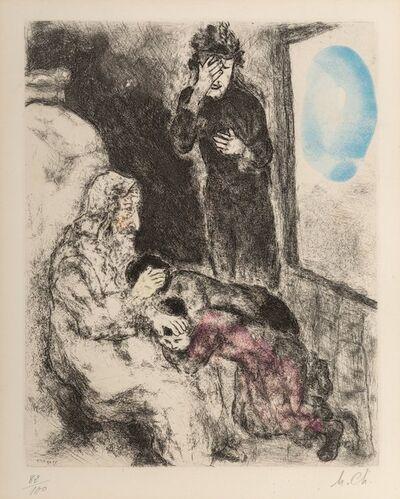 Marc Chagall, 'Bénédiction d'Ephraïm et Manassé, from Bible'