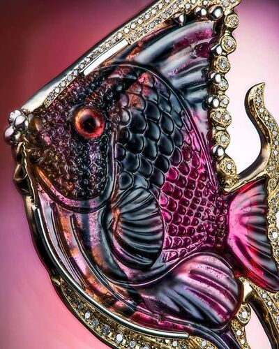 Nathaniel Fyffe, 'Michael Peuster Carved Tourmaline Fish Pendant ', 2018