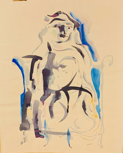 Walter Quirt, 'Untitled (Veiled Woman, WQ68)', ca. 1959
