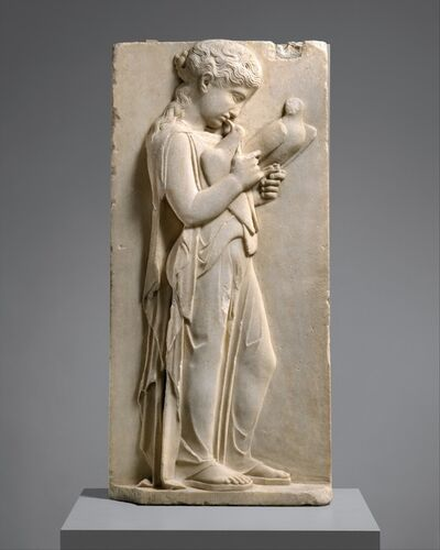 Unknown Greek, 'Marble grave stele of a little girl', ca. 450–440 B.C.