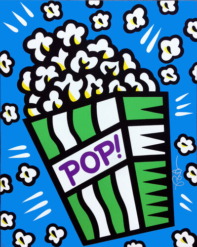 Burton Morris, 'Pop! (blue)', 2017