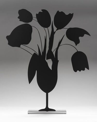 Donald Sultan, 'Black Tulips and Vase', 2014