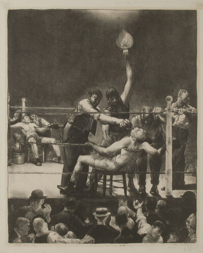 George Wesley Bellows, 'Between Rounds, Small, Second Stone', 1923