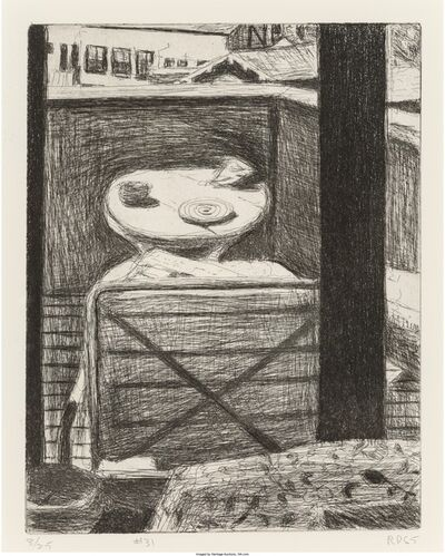 Richard Diebenkorn, '#31 from 41 Drypoints/Etchings (Looking out at desk of artist's residence)', 1965