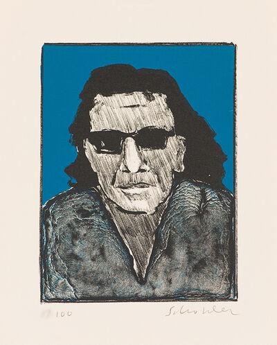 Fritz Scholder, 'Self Portrait with Dark Glasses (State I)', 1975
