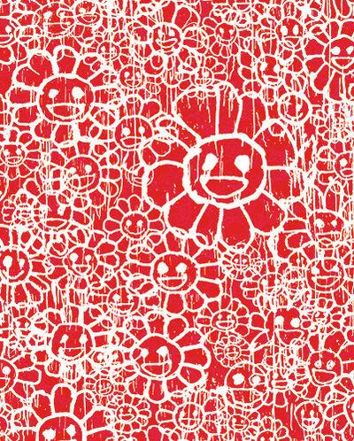 Takashi Murakami, 'Madsaki Flowers C Red', 2017