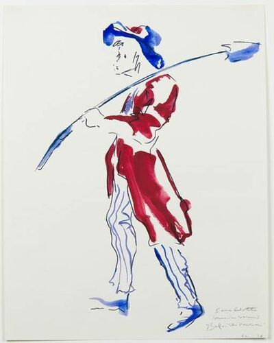 """Eleanor Antin, 'Antinova's Costume Drawings from """"Before the Revolution"""": Uncle Sam Comes Home', 1978"""