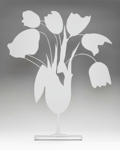 Donald Sultan, 'White Tulips and Vase April 4, 2014', 2014