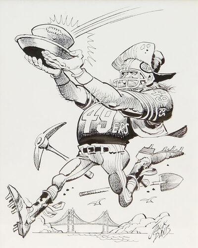 Jack Davis, 'San Francisco 49ers Football Illustration', 1990