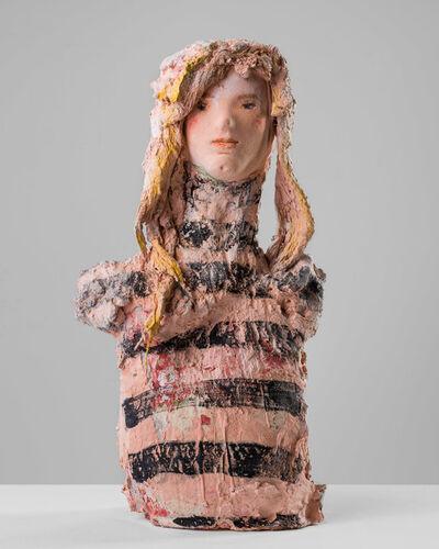Linda Marrinon, 'Woman with striped top', 2020