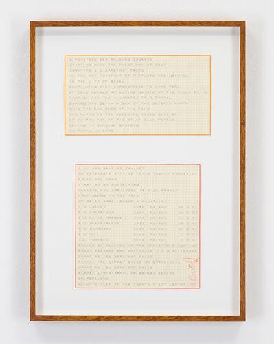 Hamish Fulton, 'Untitled (Two Swiss Walk Texts)', 2005-2007