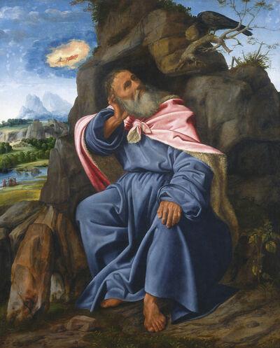 Giovanni Girolamo Savoldo, 'Elijah Fed by the Raven', ca. 1510