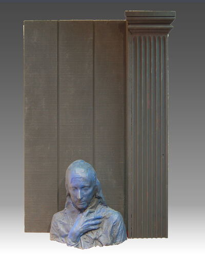 George Segal, 'Woman Next to Black Column', 1981-1988