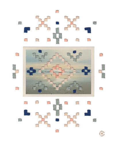 Natalie Ciccoricco, 'Sunrise - Geometric Embroidery on Vintage Photograph of the Ocean / Beach / Surf', 2016