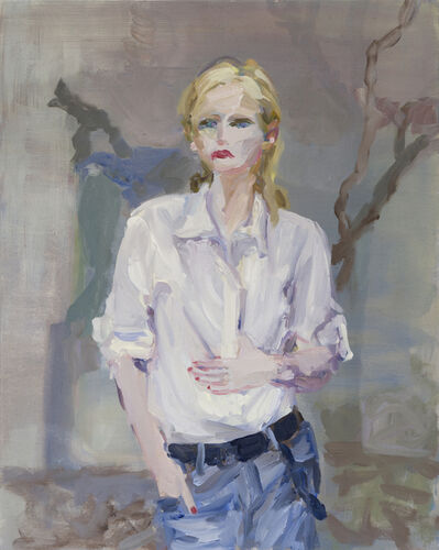 Janet Werner, 'Girl with White Shirt in Grey Landscape', 2018