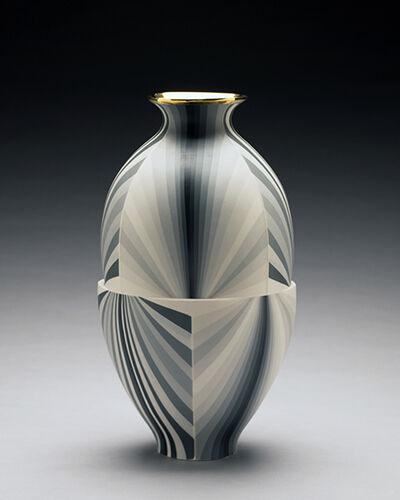 Peter Pincus, 'Twisting Greyscale Vase', 2017