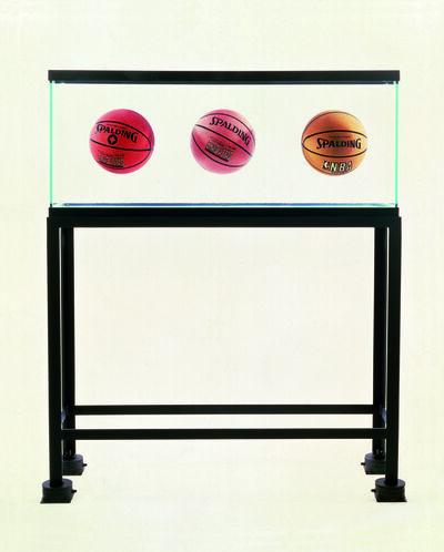 Jeff Koons, 'Three Ball Total Equilibrium Tank (Two Spalding Shaq Attaq, One Spalding NBA Tip-Off)', 1986