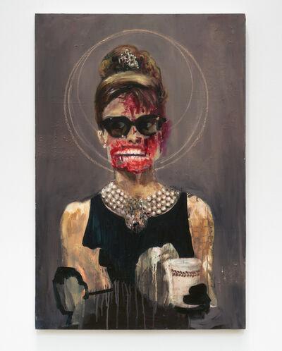 "Dawn Mellor, 'Audrey Hepburn (from ""Vile Affections"")', 2007"