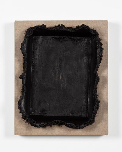 Andrew Dadson, 'Black Restretch With Soil (East Vancouver)', 2019