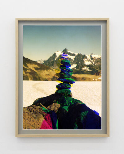 Peter Funch, ' Variation of Cairn on Ptarmigan Ridge with Mt. Shuksan in Background (C)', 2014