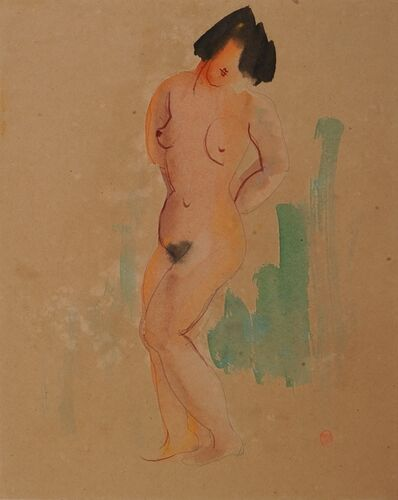 Chen Cheng-Po 陳澄波, 'Standing Nude', 1932