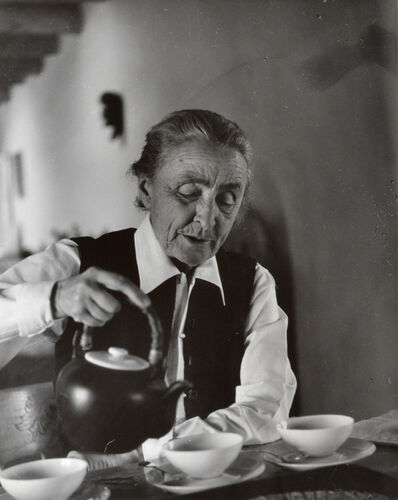 Todd Webb, 'Georgia O'Keeffe Pouring Tea at the Ghost Ranch', 1962