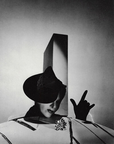 """Horst P. Horst, '""""I Love You"""", Lisa Fonssagrives with Hat by Balenciaga and Gloves by Boucheron, Paris', 1938"""