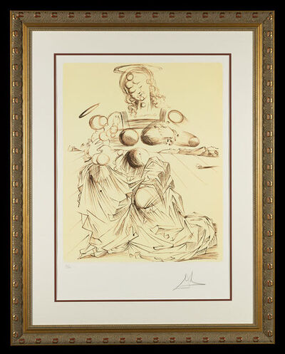 "Salvador Dalí, '""Disintegrating Mother and Child""    Hand Signed Salvador Dali Lithograph', 1941-1957"