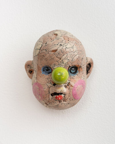 Tom Bartel, 'Medium Doll Head, Lime Green Nose', 2018