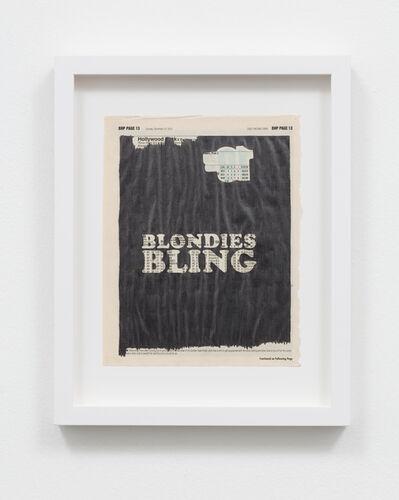 Sadie Barnette, 'Untitled (Blondies Bling)', 2015