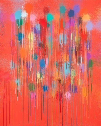 Ian Davenport, 'Red Rain', 2019
