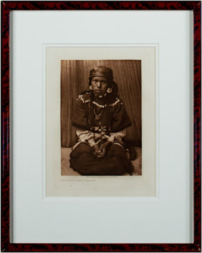 Edward Sheriff Curtis, 'Touch Her Dress - Kalispel', 1910