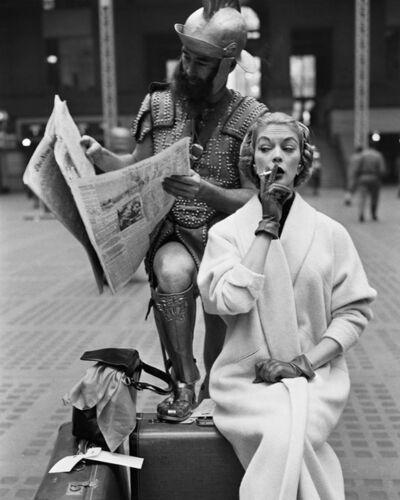 William Helburn, 'Jean Patchett and Centurian, Penn Station, New York, NY', 1955