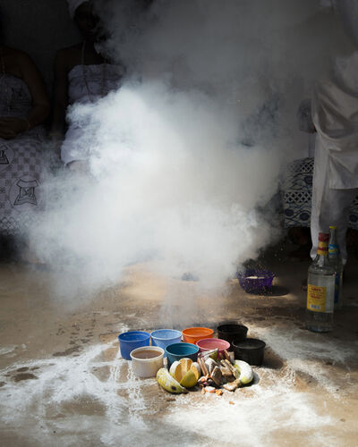 Nicola Lo Calzo, 'Fire powder used during the salah ceremony at the Adzakokou Convent. Lomé, Togo.', 2017
