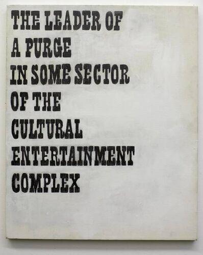 T. Kelly Mason, 'Leader Of A Purge', 2001