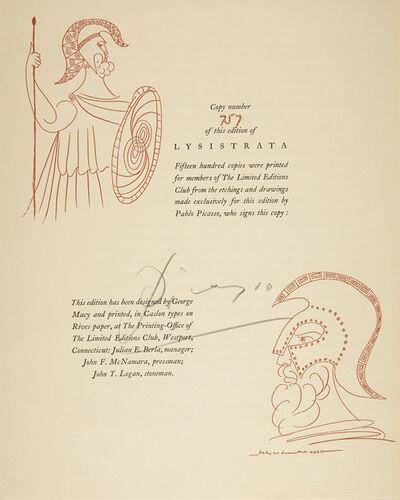 Pablo Picasso, 'Lysistrata', 1934