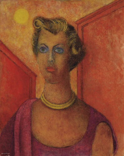 Rufino Tamayo, 'Portrait of Mrs. Gary (Veronica) Cooper', 1954