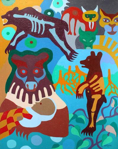 Robert Burke, 'Bear and Family', 2006